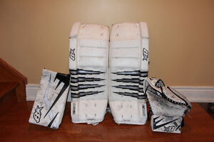 Brian's H-Series Goalie Pads and Glove and Blocker