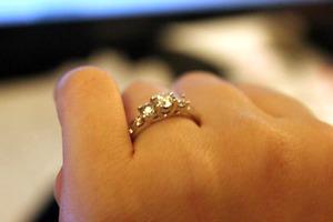 FS: Diamond engagement ring.