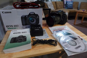 Canon 60D with 18-55 lens. Shutter Count 4900 Like New