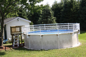 Above ground salt water pool - 18 feet