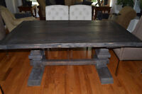 Handcrafted solid pine trestle tables