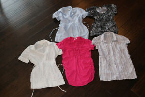 Short sleeve maternity tops.