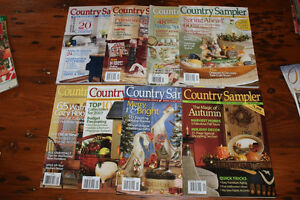 Box Lot of Country Sampler Magazines