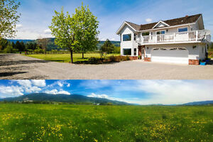 9.83 Acre Okanagan Acreage with Useable Land & Views!