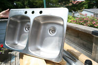 Sears double stainless steel sink - Excellent condition