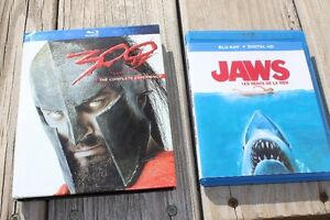 2 BLU RAY  MOVIES    JAWS and   300