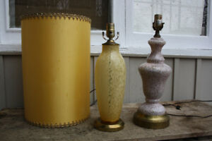 "Lovely VINTAGE ""Murano"" Glass Table Lamps! $50 EACH"