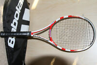 USED BABOLAT PURE STORM GT  4 314 with a cover $85 Firm