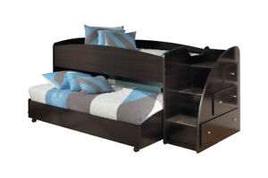 TWIN LOFT BED with side staircase