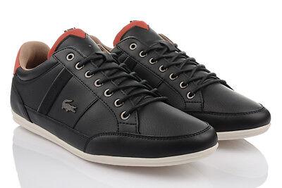 2 Herren-leder (LACOSTE CHAYMON 118 2 Herren EXCLUSVIE Sneaker Leder Schuhe Turnschuhe ORIGINAL)