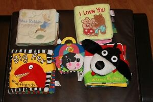 5 Baby Cloth Books $10.00 for the Lot