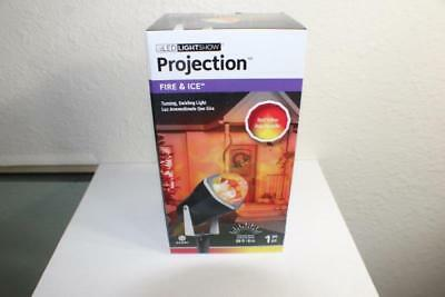 NEW Gemmy Lightshow Halloween Lights LED PROJECTION FIRE ICE Red Yellow Show b (Gemmy Light Show Halloween)