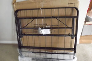 Brand New Black steel single bed frame