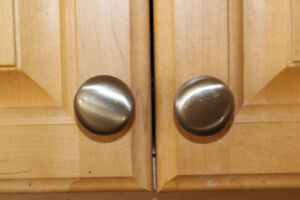 BRUSHED SATIN NICKEL ROUND CABINET KNOB - 4 @ 1-1/8 in.
