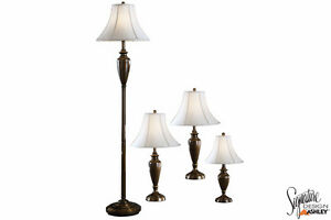 Brand NEW Carson Brass 4 Pack Lamp Set! Call 306-343-2155!