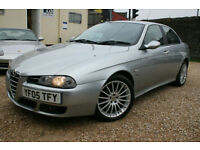 Alfa Romeo 156 2.4JTD 175 Veloce+F/S/H+CAMBELT+FEB 2018 MOT+RED LEATHER+2 KEYS