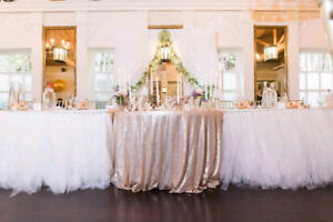 Tulle Wedding Reception Table Skirts