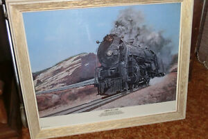 CNR framed picture of the Santa Fe Chief Train  {REDUCED FOR QU}