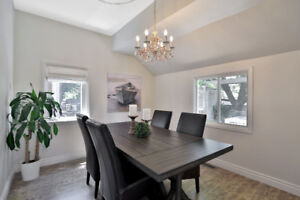 Trestle Style Dining Table and Chairs