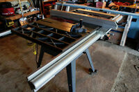 """Craftsman 10"""" Contractors Table Saw W/stand & Cast Iron Extensio"""