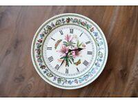 Portmeirion Clock | Lily Flowered Azalea | Made in England