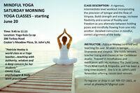 Saturday Morning Yoga classes - Moderate/Intermediate
