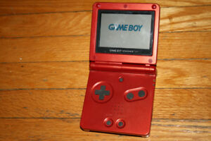 Red gameboy advance sp