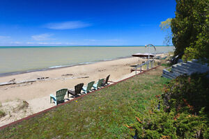 Vacation Lake Front Property- Lake Huron W/Private Beach Access