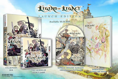 Atlus Software Legend Of Legacy Le -artbook & Track 3ds N...