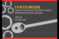 """""""E-P PETITS MOTEURS"""" LAVAL RÉPARATION,ENTRETIEN,SOUDURE ETC..."""