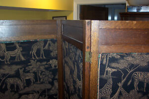Antique Arts and Crafts room divider: three-piece screen London Ontario image 4