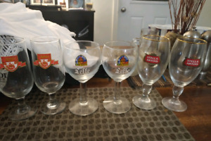 Assorted beer glasses