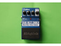 Digitech X-Series Bass Chorus stereo effects pedal, used, fully working, unboxed.
