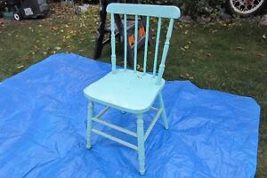 Antique wood green chair!!