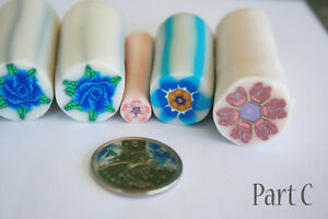 8 original unbaked polymer clay canes made by artist Kitchener / Waterloo Kitchener Area image 3
