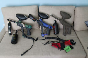Paintball guns and accessories