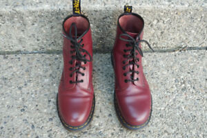 Mens Cherry Red Doc Marten Boots - Worn Once - LOOK