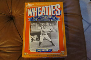 Full Box Wheaties Sports Heritage Collectors Edition- Lou Gehrig