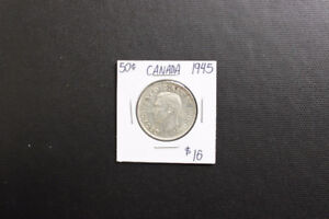 Canada 1945 50 Cent Coin