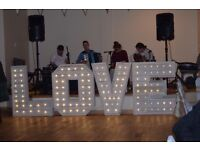 Giant 4ft LED LOVE Letters – Weddings, Anniversaries, Events