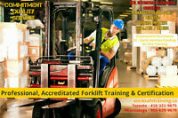FORKLIFT TRAINING + LICENCE + FREE JOB HELP - $14-$18/hr