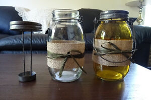 Rustic candle jars