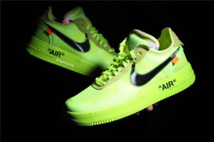 OFF WHITE NIKE AIR FORCE 1 VOLT 9.5 MENS