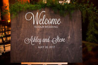 CUSTOM WELCOME TO OUR WEDDING SIGN, WEDDING DECOR
