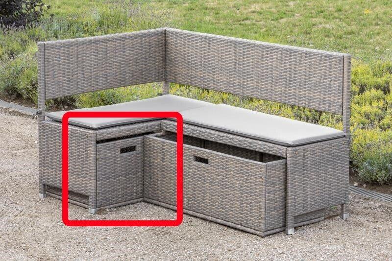Merxx Unterschiebbox Gartenbox klein für Eckbank grau