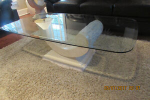 Complete 4 pc living room coffee/sofa/end tables(2). Moving Sale