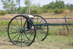 Horse Drawn Vehicle/Buggy/Road Cart - Forest Green Metallic