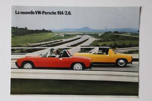 New PORSCHE VW 914 2.0 1972 dealer brochure- French - Canada