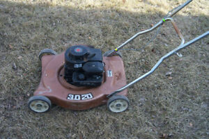 Brown side discharge mower