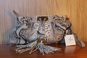 Beautiful Italian made Python Leather Clutch